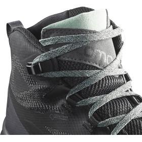 Salomon Outline Mid GTX Zapatillas Mujer, black/magnet/green milieu